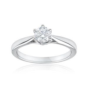 1.50 ct Six prong set round cut diamond solitaire